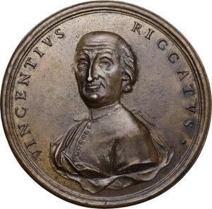 obverse: Vincenzo Riccati (1707-1775), teologo e matematico.. Medaglia 1776