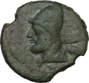 obverse: North-eastern Italy, Ariminum. AE Obol or Quartuncia, 268-240 BC
