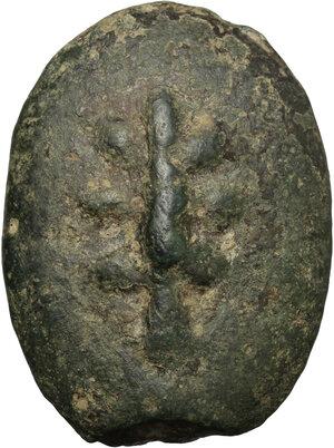 obverse: Uncertain Umbria or Etruria. AE Cast Sextans, 3rd century BC