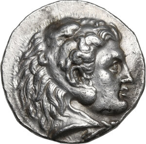 obverse: Kings of Macedon.  Alexander III  the Great  (336-323 BC). .  AR Tetradrachm, struck under Seleukos I Nikator. Babylon mint, c. 311-305 BC