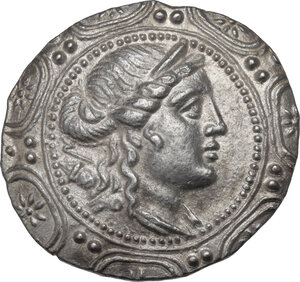 obverse: Macedon.  Under roman rule.. AR Tetradrachm, after 168 BC
