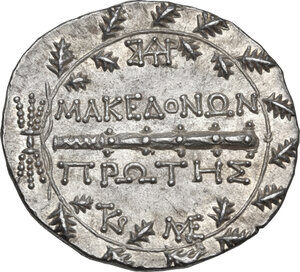 reverse: Macedon.  Under roman rule.. AR Tetradrachm, after 168 BC