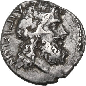 obverse: Peloponnesos, Achean League. AR Triobol-Hemidrachm. Aigion mint. Aristodamos, magistrate (37-31 BC)