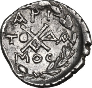 reverse: Peloponnesos, Achean League. AR Triobol-Hemidrachm. Aigion mint. Aristodamos, magistrate (37-31 BC)