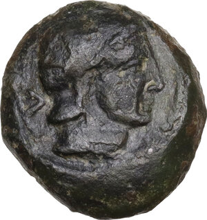 obverse: Uncertain Central Etruria. AE 5-Units, Incuse Centesimal Group, late 4th-3rd century BC