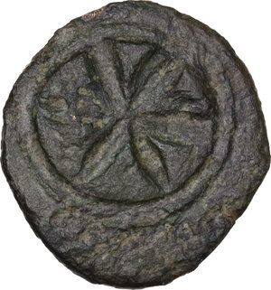reverse: Uncertain Central Etruria. AE 5-Units, Incuse Centesimal Group, late 4th-3rd century BC