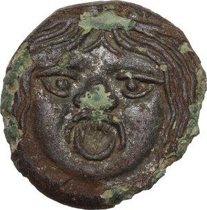 obverse: Etruria, Populonia. Fourrèe 20-Asses, 3rd century BC