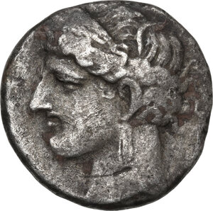 obverse: Zeugitania, Carthage.  First Punic War.. BI Double Shekel. Circa 264-241 BC