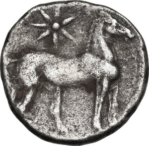 reverse: Zeugitania, Carthage.  First Punic War.. BI Double Shekel. Circa 264-241 BC