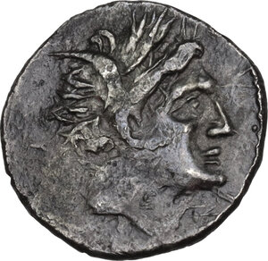 obverse: Akragas. AR Quarter-Shekel. Punic occupation, c. 213-211 BC
