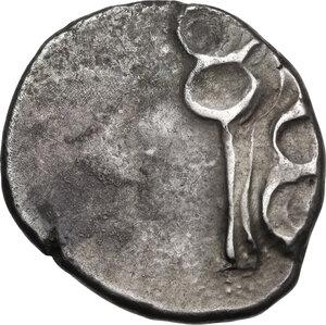 reverse: Etruria, Populonia. AR 20-Asses, after c. 211 BC