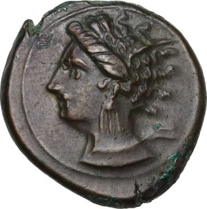 obverse: AE 18 mm. Circa 360-330 BC. Uncertain mint