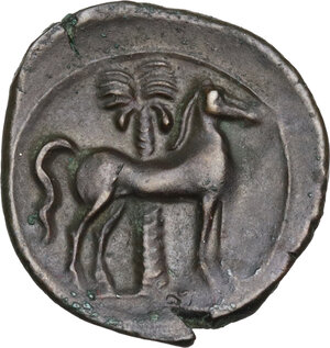 reverse: AE 18 mm. Circa 360-330 BC. Uncertain mint