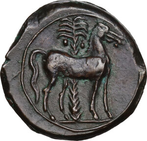 reverse: AE 17 mm. Circa 360-330 BC. Uncertain mint