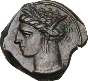 obverse: AE 17 mm. Circa 360-330 BC. Uncertain mint