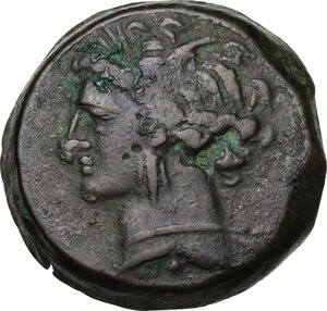 obverse: AE 20 mm. Circa 300-264 BC. Uncertain mint