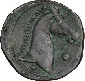 reverse: AE 20 mm. Circa 300-264 BC. Uncertain mint