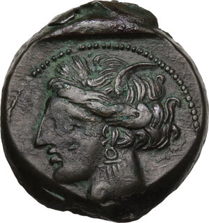 obverse: AE 20.5 mm. Circa 300-264 BC. Uncertain mint