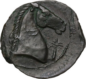 reverse: AE 20.5 mm. Circa 300-264 BC. Uncertain mint