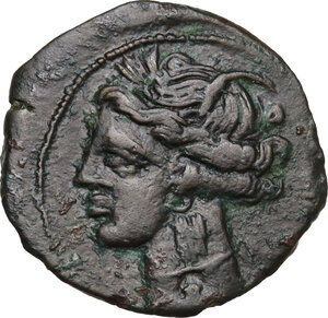 obverse: AE 21 mm. Circa 300-264 BC. Uncertain mint