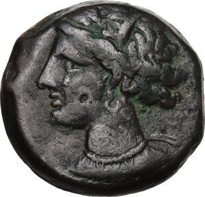 obverse: AE 19 mm. Circa 300-264 BC. Uncertain mint