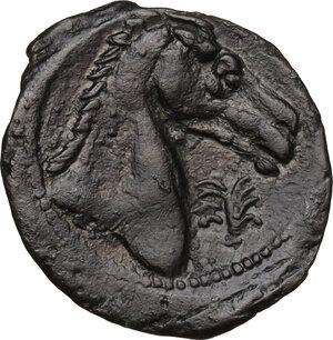 reverse: AE 21 mm. Circa 300-264 BC. Uncertain mint