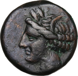 obverse: AE 17.5 mm. Circa 300-264 BC. Uncertain mint
