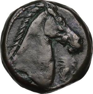 reverse: AE 19 mm. Circa 300-264 BC. Uncertain mint