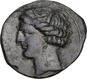 obverse: AE 21.5 mm. Circa 300-264 BC. Uncertain mint