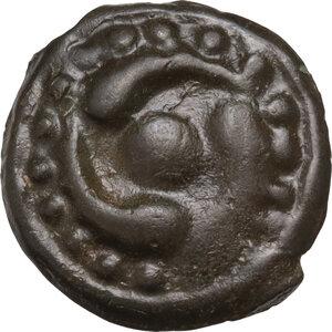obverse: Central Gaul, Lingones. Potin Unit. Circa 1st Century BC