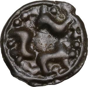 reverse: Central Gaul, Lingones. Potin Unit. Circa 1st Century BC