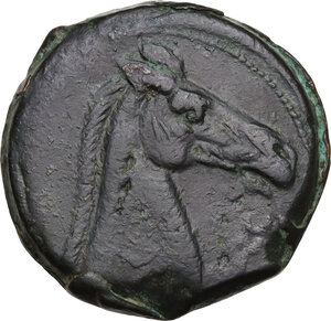 reverse: First Punic War.. AE Dishekel. Circa 264-241 BC. Uncertain mint