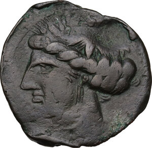 obverse: First Punic War.. AE Dishekel. Circa 264-241 BC. Uncertain mint