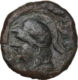 obverse: AE 19 mm. Circa  241-238 BC. Uncertain mint