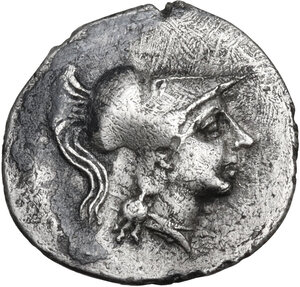 obverse: Central Italy, Alba Fucens. AR Obol, c. 280-275 BC