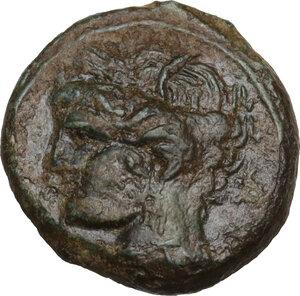 obverse: AE 18 mm. Circa  241-238/215 BC. Uncertain mint