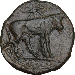 reverse: AE 18 mm. Circa  241-238/215 BC. Uncertain mint