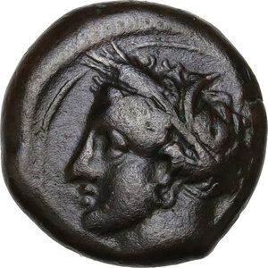 obverse: AE 16 mm. Circa 375-350 BC. Uncertain mint