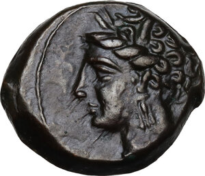 obverse: AE 16.5 mm. Circa 375/50-340/25 BC. Uncertain mint in Sicily or Sardinia
