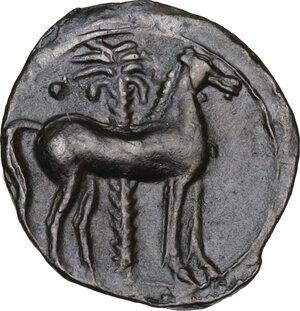 reverse: AE 16.5 mm. Circa 375/50-340/25 BC. Uncertain mint in Sicily or Sardinia