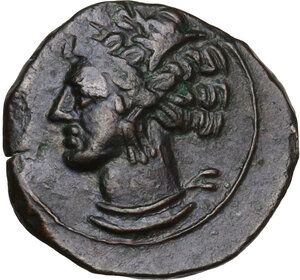 obverse: AE 17 mm. Circa 375/50-340/25 BC. Uncertain mint in Sicily or Sardinia