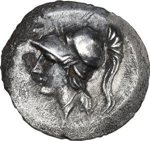 obverse: Central Italy, Alba Fucens. AR Obol, 280-275 BC