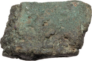 obverse: Aes Premonetale.. Aes Formatum. Large fragment of a bronze ingot. Central Italy, 8th-4th century BC