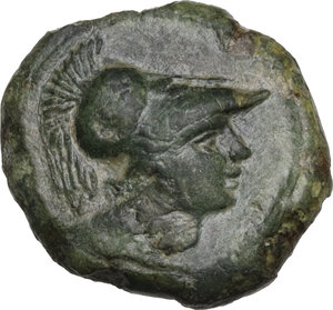obverse: Anonymous. AE Half Unit, after 276 BC