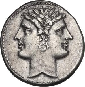 obverse: Anonymous. AR Quadrigatus, circa 225-214