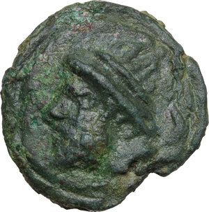 obverse: Post-semilibral series.. AE Cast Semis, 215-212 BC