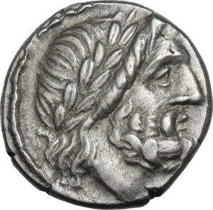 obverse: Anonymous. AR Victoriatus, 211-208 BC, Sicily