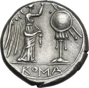 reverse: Anonymous. AR Victoriatus, 211-208 BC, Sicily