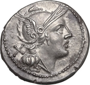 obverse: H series.. AR Denarius, c. 211-210 BC, South East Italy
