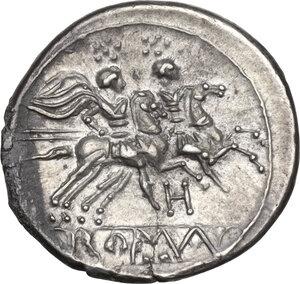 reverse: H series.. AR Denarius, c. 211-210 BC, South East Italy